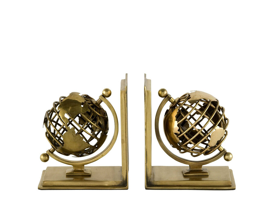Bokstöd Globe 2-set mässing