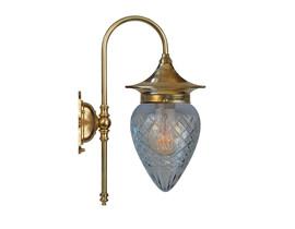 Badrumslampa Fryxell - mässing / rutslipat glas