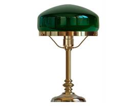 Bordslampa Karlfeldt - mässing / grön glasskärm