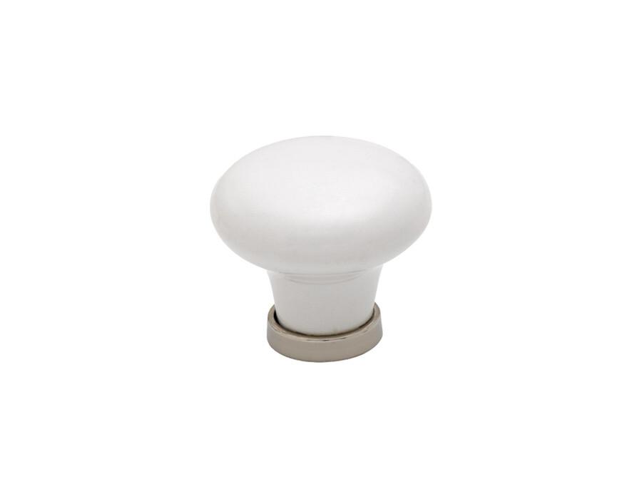 Knopp 24136-30 vit/förnicklad