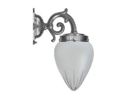 Badrumslampa Topelius - förnicklad / stjärnslipat glas