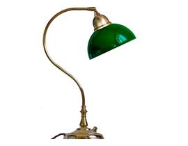Bordslampa Lagerlöf - mässing / grön glasskärm