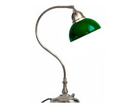 Bordslampa Lagerlöf - förnicklad / grön glasskärm