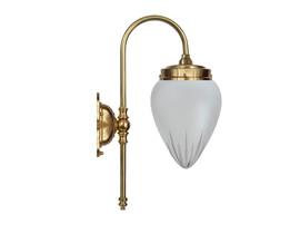 Badrumslampa Blomberg - mässing / stjärnslipat glas