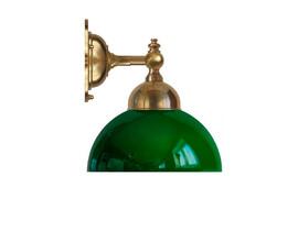Badrumslampa Adelborg - mässing / grön glasskärm