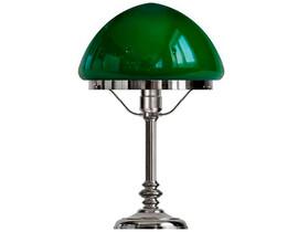 Bordslampa Karlfeldt - förnicklad / grön toppig glasskärm