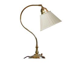 Skrivbordslampa Lagerlöf - mässing / beige tygskärm