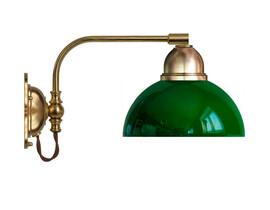 Vägglampa Gripenberg - mässing / grön glasskärm