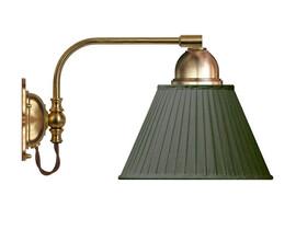 Vägglampa Gripenberg - mässing / grön tygskärm