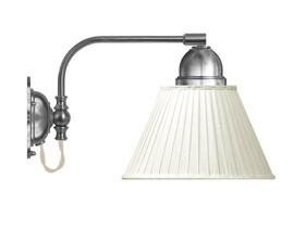 Vägglampa Gripenberg - förnicklad / vit tygskärm