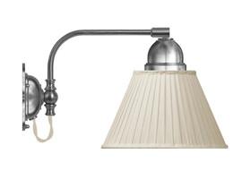 Vägglampa Gripenberg - förnicklad / beige tygskärm