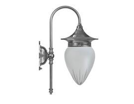 Badrumslampa Fryxell - förnicklad / stjärnslipat glas