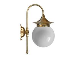 Badrumslampa Fryxell - mässing / opalvitt klotglas