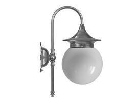 Badrumslampa Fryxell - förnicklad / opalvitt klotglas