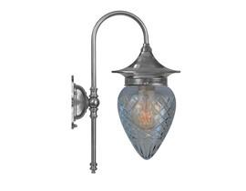 Badrumslampa Fryxell - förnicklad / rutslipat glas