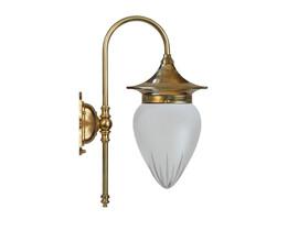 Badrumslampa Fryxell - mässing / stjärnslipat glas