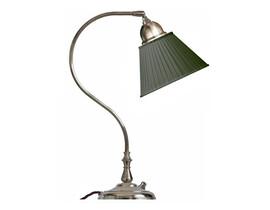 Bordslampa Lagerlöf - förnicklad / grön tygskärm